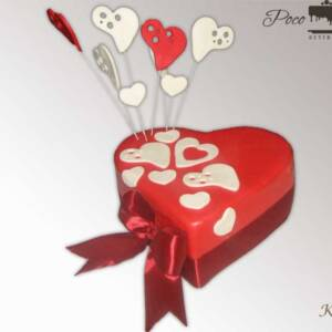 Srce poklon torta K453
