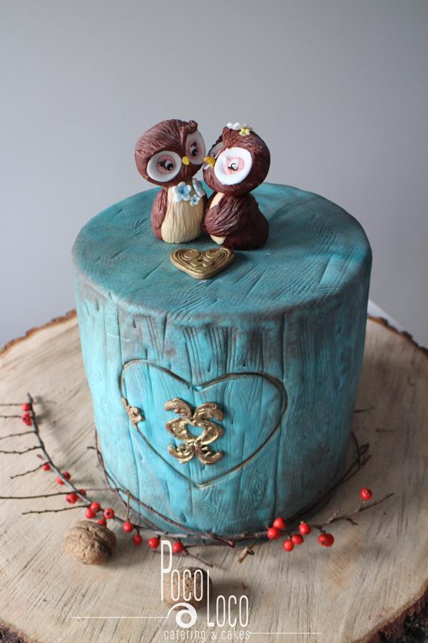 Retro torta za venčanje