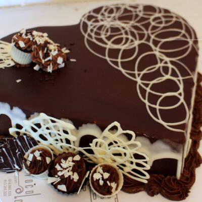 Čokoladna srce torta