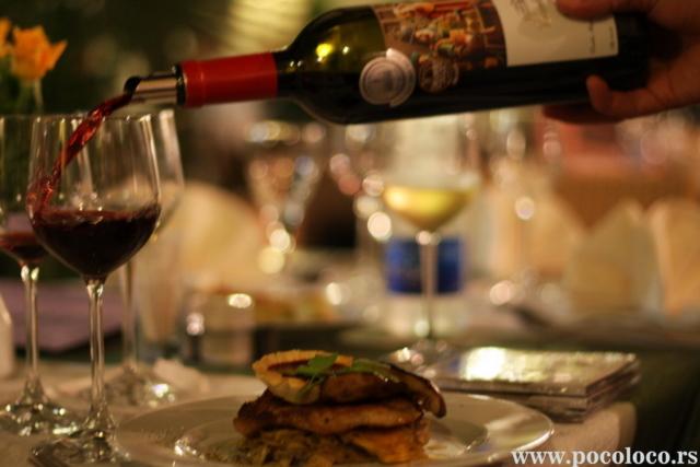 Uparivanje hrane i vina Poco loco restoran Pančevo