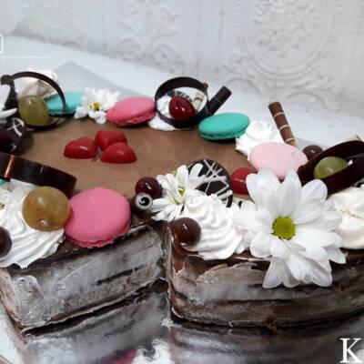 Dva spojena srca torta