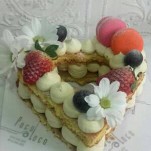 Biskvit torta u obliku srca K865