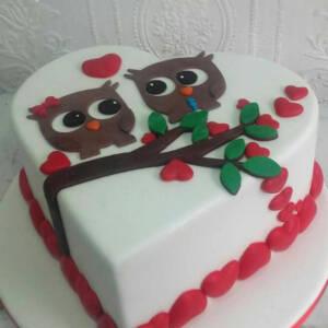 Torta sa zaljubljenim sovama K868