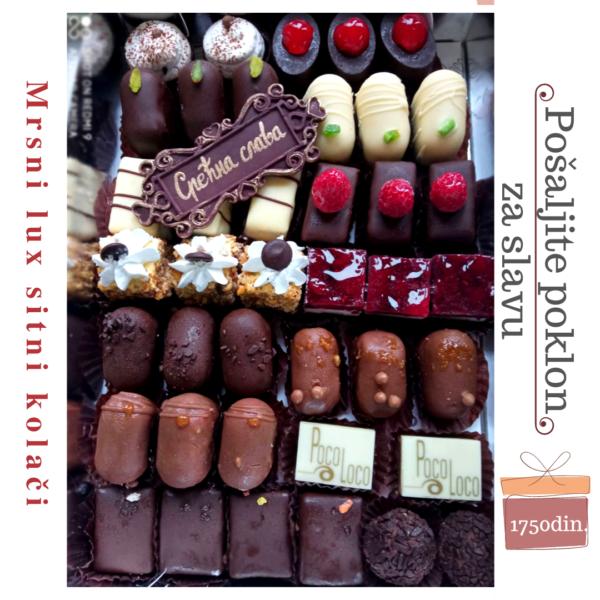 Lux mrsni sitni kolači poklon pakovanje za slavu